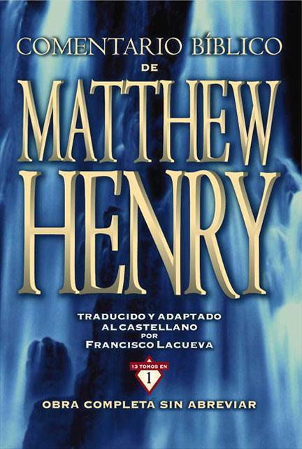 Librería Mizpa Título Comentario Bíblico de MATTHEW HENRY